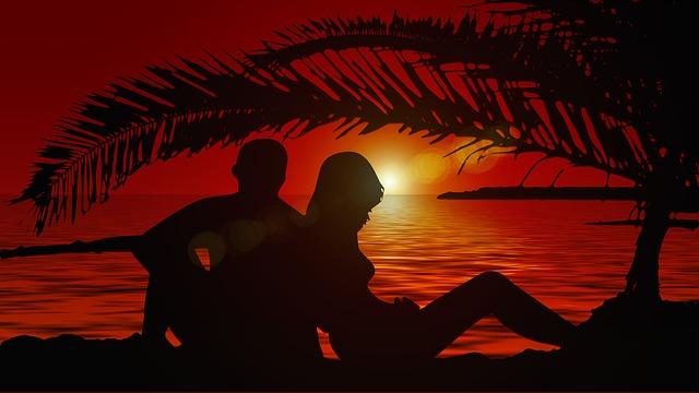 Muž a žena, siluety, ostrov.jpg